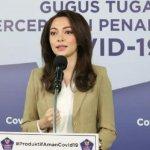 dr. Reisa salah satu anggota tim Komunikasi Gugus Tugas Percepatan Penanganan Covid-19 (Gugus Tugas Nasional), (Foto dok. BNPB).